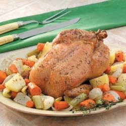 Roasted Chicken with Veggies recipe