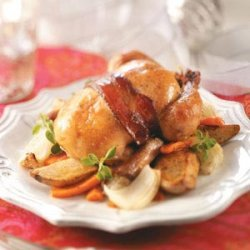 Roasted Cornish Hens with Vegetables recipe