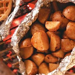 Grilled Potatoes with Sour Cream Sauce recipe