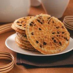 Hazelnut Chocolate Chip Pizzelle recipe