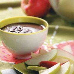 Chocolate Mint Apple Fondue recipe