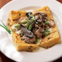Grilled Polenta with Mushroom Sauce recipe