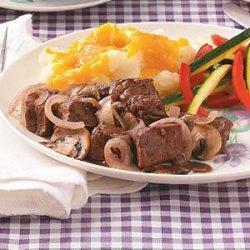 Braised Beef with Mushrooms recipe
