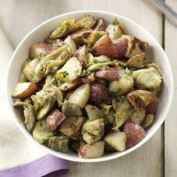 Garlic and Artichoke Roasted Potatoes recipe