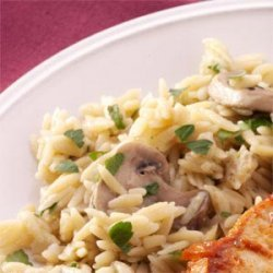 Orzo Pilaf with Mushrooms recipe