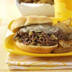 Spicy Shredded Beef Sandwiches recipe
