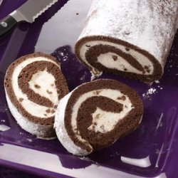 Chocolate Cannoli Cake Roll recipe
