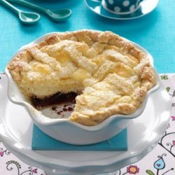 Ricotta Pie (Pizza Dolce) with Chocolate and Raspberry recipe