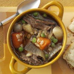 Vegetable Beef & Barley Soup recipe