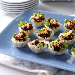 Rosemary Beet Phyllo Bites recipe