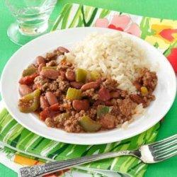 Cajun Beef and Beans recipe
