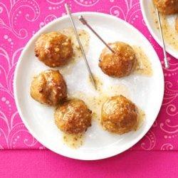 Apple-Mustard Glazed Meatballs recipe