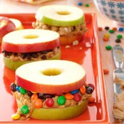 Apple and Peanut Butter Stackers recipe