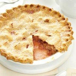 Lemony Rhubarb Pie recipe