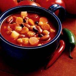 Confetti Bean Chili recipe