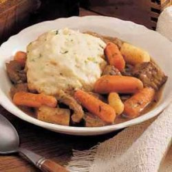 Herbed Beef Stew and Dumplings recipe