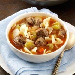 Zesty Vegetable Beef Soup recipe