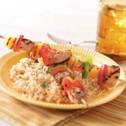 Sweet and Sour Pork Kabobs recipe
