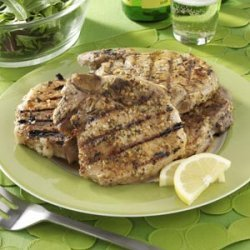 Barbecued Pork Chops with Rosemary Lemon Marinade recipe