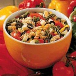 Three-Pepper Pasta Salad recipe