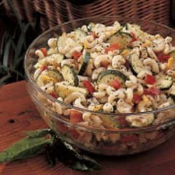 Macaroni Salad with Basil Dressing recipe