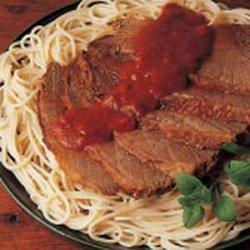Pot Roast with Spaghetti recipe