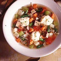 Vegetable Soup with Dumplings recipe