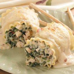 Chicken Lasagna Rolls recipe