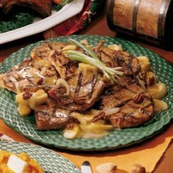 Grilled Pork Chops with Maple Butter recipe