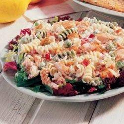 Dilled Salmon Pasta Salad recipe