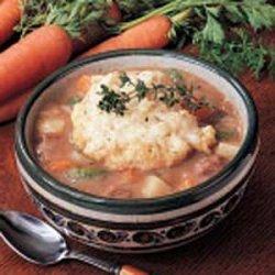 Beef Stew with Herb Dumplings recipe