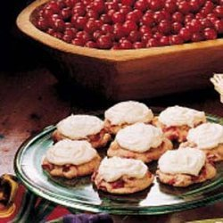 Frosted Cranberry Drop Cookies recipe