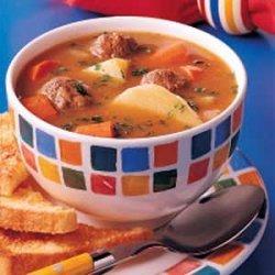 Simple Meatball Stew recipe