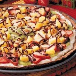 Fruity Brownie Pizza recipe
