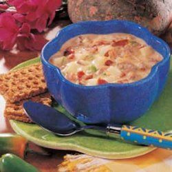 Spicy Cheeseburger Soup recipe