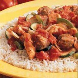 Chicken Sausage Skillet recipe