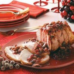 Fruit-Pecan Pork Roast recipe