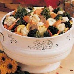 Overnight Vegetable Salad recipe