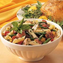 Potatoes with Beans 'n' Pasta recipe