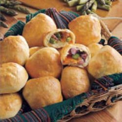 Asparagus Ham & Cheese Rolls recipe