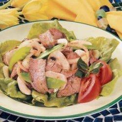 Snow Peas and Beef Salad recipe