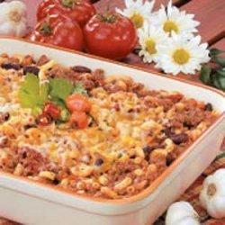 Chili Mac Casserole recipe