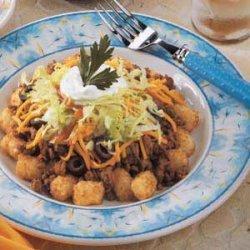 Tater Tot Taco Salad recipe