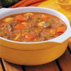 Savory Vegetable Beef Stew recipe