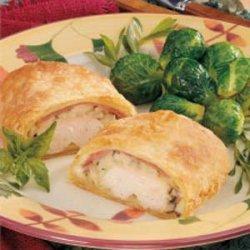 Chicken Cordon Bleu Calzones recipe