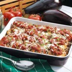 Beefy Eggplant Parmigiana recipe