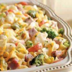 Veggie Noodle Ham Casserole recipe