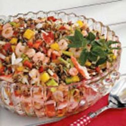 Wild Rice Seafood Salad recipe
