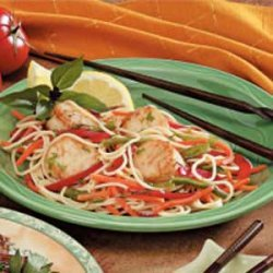Scallops with Spaghetti recipe