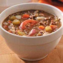 Beef Barley Lentil Soup recipe